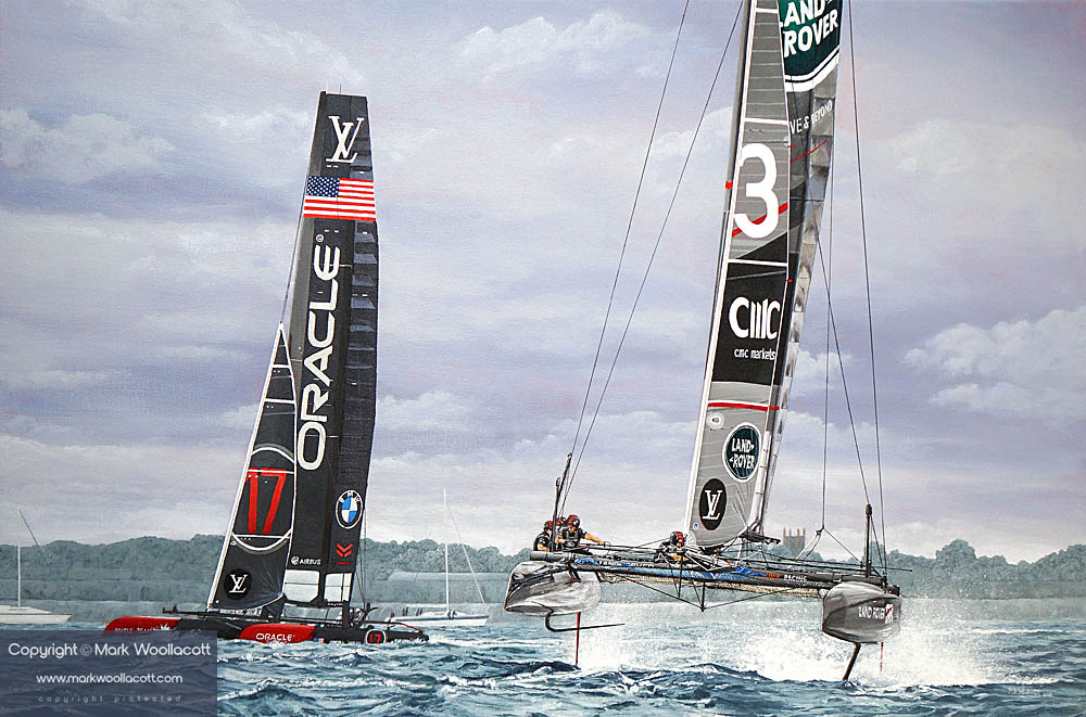 Land Rover BAR and Oracle Team USA, Portsmouth 2016